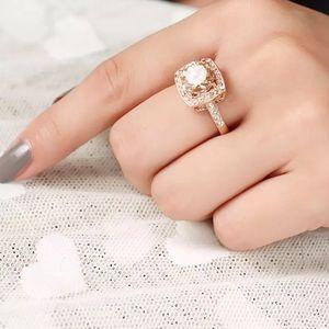 Rose Gold 18KGP Morganite Ring